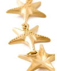 Valentino - Metallic Sea Star Necklace - Lyst