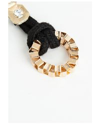 Missguided - Shirleen Black and Gold Drop Earrings - Lyst