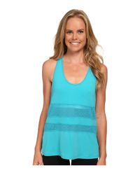 New Balance | Blue Mesh Panel Tank Top | Lyst