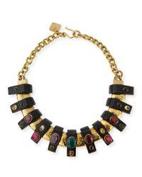 Ashley Pittman - Multicolor Uongozi Dark Horn & Mixed Stone Collar Necklace - Lyst