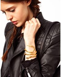 ASOS - Metallic Limited Edition Snake Bracelet - Lyst