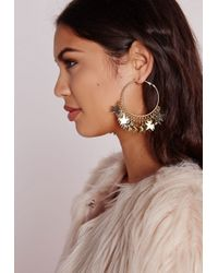 Missguided | Metallic Layered Star Hoops | Lyst