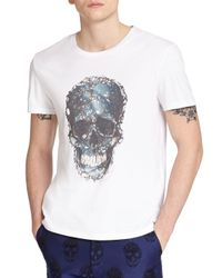 Alexander McQueen - White Skull Print Cotton Tee for Men - Lyst