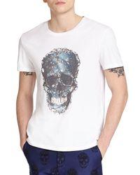 Alexander McQueen | White Skull Print Cotton Tee for Men | Lyst
