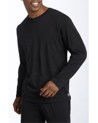 Daniel Buchler | Black Peruvian Pima Cotton Long Sleeve Crewneck T-shirt for Men | Lyst