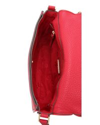 Tory Burch - Red Robinson Pebbled Messenger Bag - Kir Royale - Lyst