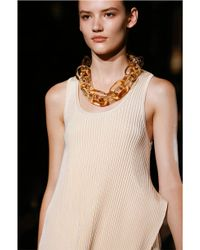 Stella McCartney | Natural Plexy Chain Necklace | Lyst