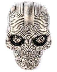 Alexander McQueen | Metallic Skull Ring | Lyst