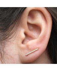 Anne Sisteron - 14kt Yellow Gold Diamond Bar Ear Cuffs - Lyst