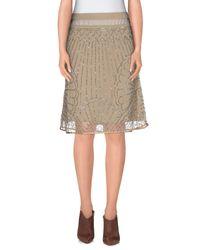 Twin Set - Natural Knee Length Skirt - Lyst