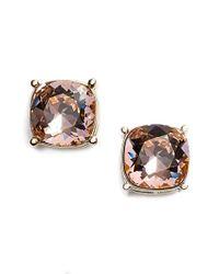 St. John - Pink Swarovski Crystal Earrings - Lyst
