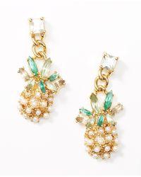 Ann Taylor - Metallic Island Earrings - Lyst