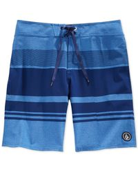 Volcom | Blue Static Division Board Shorts for Men | Lyst