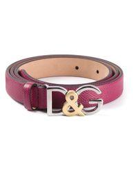 Dolce & Gabbana | Pink Logo Buckle Belt | Lyst