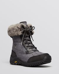UGG - Gray Lace Up Cold Weather Boots - Adirondack Ii - Lyst
