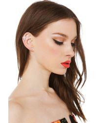 AKIRA | Metallic Bar None Silver Ear Cuff | Lyst