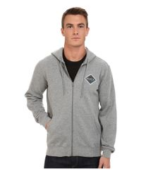 RVCA | Gray Matchbook Fleece for Men | Lyst