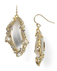 Alexis Bittar | Metallic Lucite Jagged Edge Crystal Framed Dangle Wire Earrings | Lyst