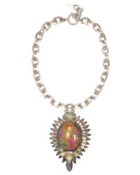Elizabeth Cole | Metallic Petite Kyler Necklace | Lyst