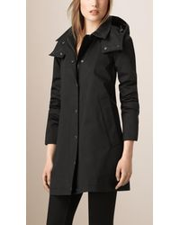 Burberry   Black Showerproof Car Coat With Removable Warmer   Lyst