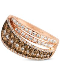 Le Vian | Metallic Chocolatier® Chocolate And White Diamond Ring (1-1/2 Ct. T.w.) In 14k Rose Gold | Lyst