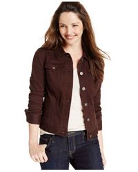 Style & Co. | Brown Colored Denim Jean Jacket | Lyst