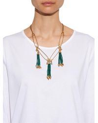 Lulu Frost | Green Nomadic Tassel Necklace | Lyst
