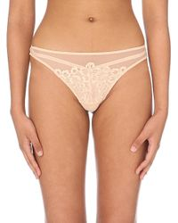 Dita Von Teese | Natural Black Dahlia Lace Thong - For Women | Lyst