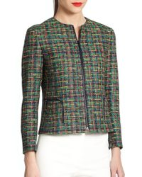 Akris Punto - Green Tweed Jacket - Lyst