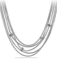 David Yurman - Metallic Renaissance Toursade Necklace With Gold - Lyst