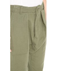 NLST - Green Harem Utility Pants - Olive Drab - Lyst