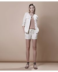 Krisa | White Safari Jacket | Lyst