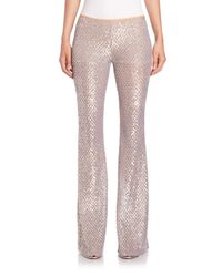 Michael Kors - Metallic Sequined Mesh Flared Pants - Lyst