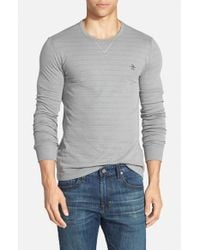Original Penguin | Gray Slim Fit Reversible Crewneck Sweater for Men | Lyst