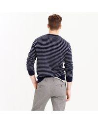 J.Crew - Blue Softspun Sweater In Ditty Stripe for Men - Lyst