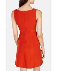 Karen Millen | Orange Colourful Mini Dress | Lyst