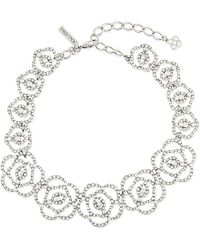 Oscar de la Renta | Multicolor Swarovski Crystal Pavé Necklace - For Women | Lyst