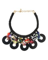 Etro - Black Tribal Bead Rope Necklace - Lyst