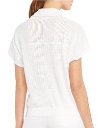 Lauren by Ralph Lauren | White Cotton Drawstring Pullover | Lyst