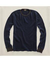 RRL | Blue Waffle Crewneck for Men | Lyst