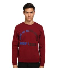 Marc By Marc Jacobs - Red Cut University Logo Sweatshirt for Men - Lyst