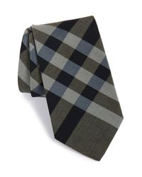 Burberry | Gray 'clinton' Cotton Tie for Men | Lyst