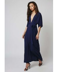 TOPSHOP - Blue Moon Dance - Wrap Dress By Goldie - Lyst