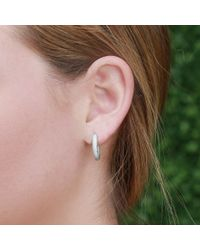 Carolina Bucci | White Mirador Sparkly Gold Huggie Earrings | Lyst