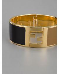 Fendi - Metallic Enameled Bangle - Lyst