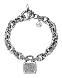 Michael Kors - Metallic Pave Padlock Bracelet - Lyst