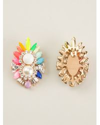 Shourouk - Multicolor 'lady' Earrings - Lyst