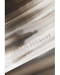 Isabel Marant - Metallic Silver-tone Faux Horn Cuff - Lyst