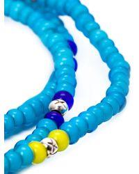 M. Cohen - Blue Glass Bead Necklace for Men - Lyst