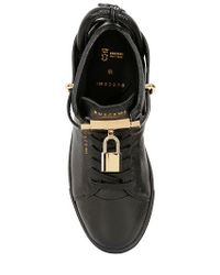 Buscemi - Black Classic Leather High Top Sneakers - Lyst